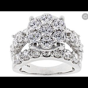 Sterling Silver 7.70 CTW Cubic Zirconia ring